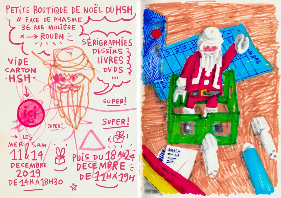 Boutique de Noël HSH les 11 et 14 Decembre, puis du 18 au 24 decembre