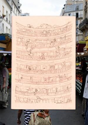 Édition d'une compilation de dessins de Lison De Ridder, 2013